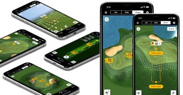 aperçu de l'application GolfLogix sur iPhone